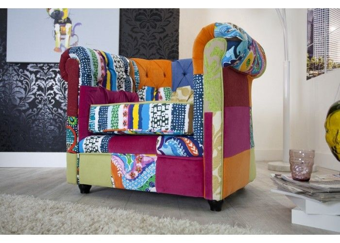 Chesterfield Patchwork Armchair  #colorfulfurniture #multicoloured #colors #interiordesign #homedecor #irenesworld #yourhome #yourplayground