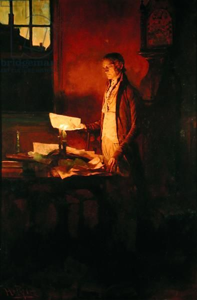 Thomas Jefferson Writing the Declaration of Independence, from 'The Story of the…