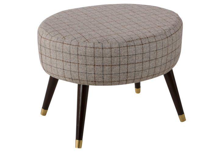 Oval Tufted Ottoman Coffee Table