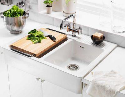 Ikea DOMSJÖ $349.00 - Kitchen Double Bowl Sink: Width: 93 cm Depth: 68.5 cm Height: 23.2 cm