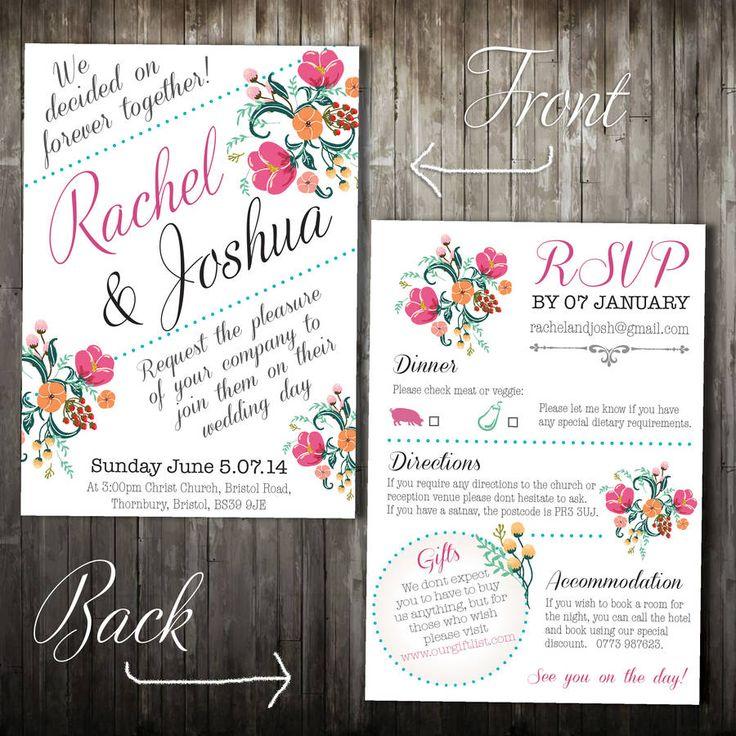 20 best Wedding invites images on Pinterest | Invites, Wedding ...