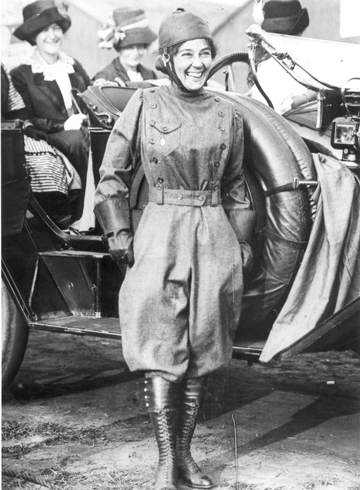Matilde Moisant (1878-1964) was an American pioneer aviator. She was the second woman in the United States to get a pilot's license. In September 1911 she broke the women's altitude world record and won the Rodman-Wanamaker trophy by flying to 1,200 feet. Moisant stopped flying on April 14, 1912 in Wichita Falls, Texas when her plane crashed (the same day that the Titanic sank).