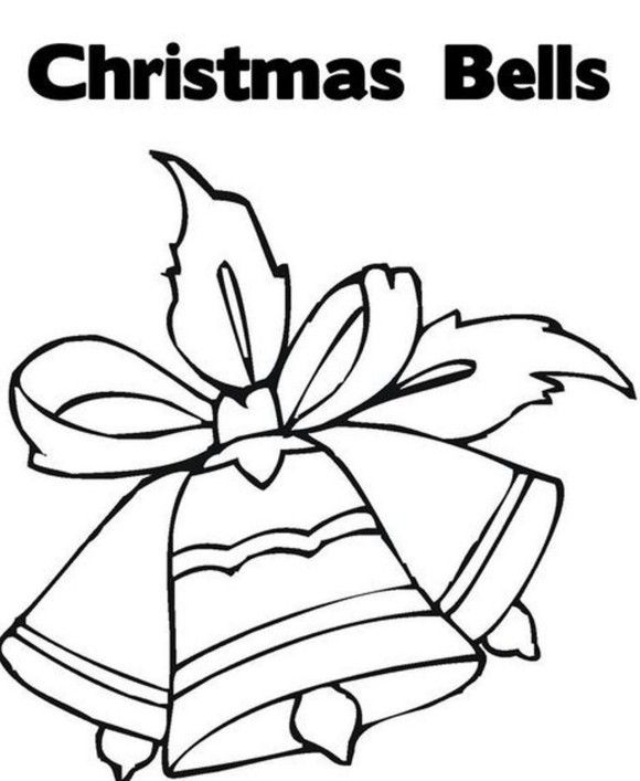 coloring pages merry christmas bells - photo#16