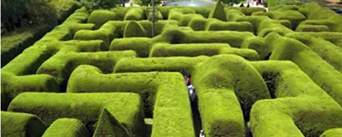 "Ashcombe Maze: Victoria, Australia  While other labyrinths and mazes score points for their difficulty or sprawling size, the most impressive part of Australia's Ashcombe Maze is its height: the hedges that frame the geometric trails are nine feet high and six feet wide. Trimmed three times a year to maintain their friendly-looking rounded shape, these massive hedges are also home to the popular ""Great Gnome Hunt,"" which gives visitors the chance to track down as many garden gnomes as they…"