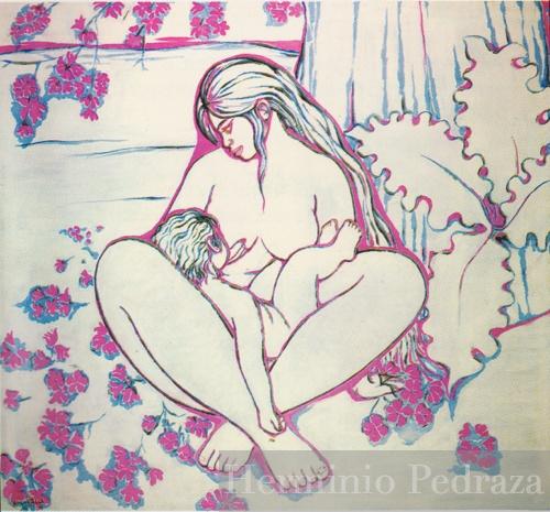 Flor de Tajibo Oil on canvas Hermínio Pedraza Private Colección