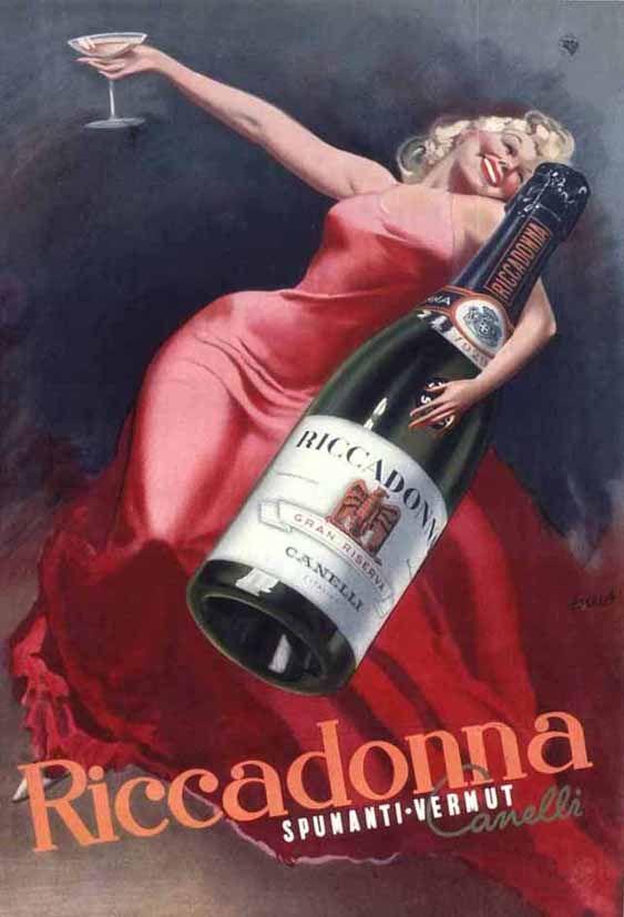 Vermouth Riccadonna. Alcohol Vintage poster / vieille affiche publicitaire d'alcool. Drink ads.