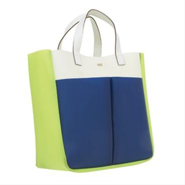 White Rubber Rubber Nevis Tri-colour Totes Anya Hindmarch Handbags