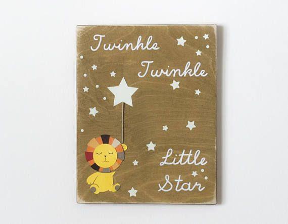 Twinkle Twinkle Little Star Lion Nursery Decor Boys Room