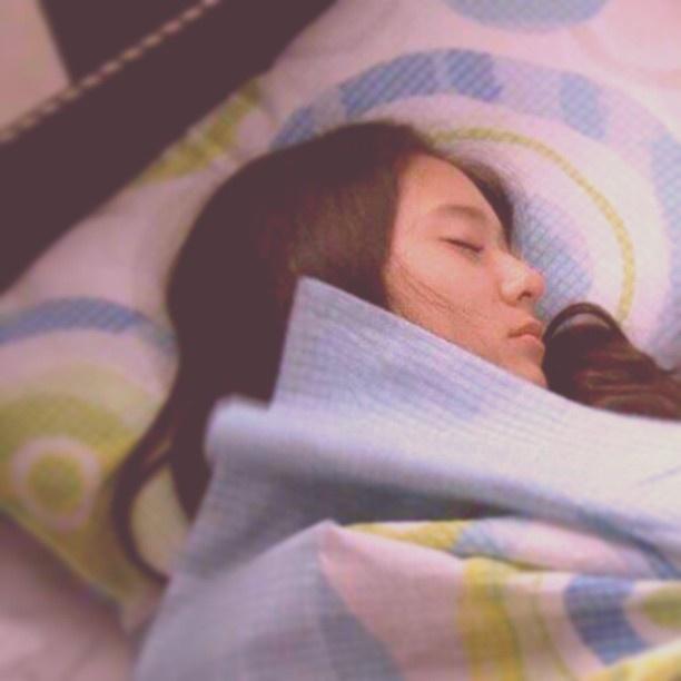 Krystal is sleeping :D so cute