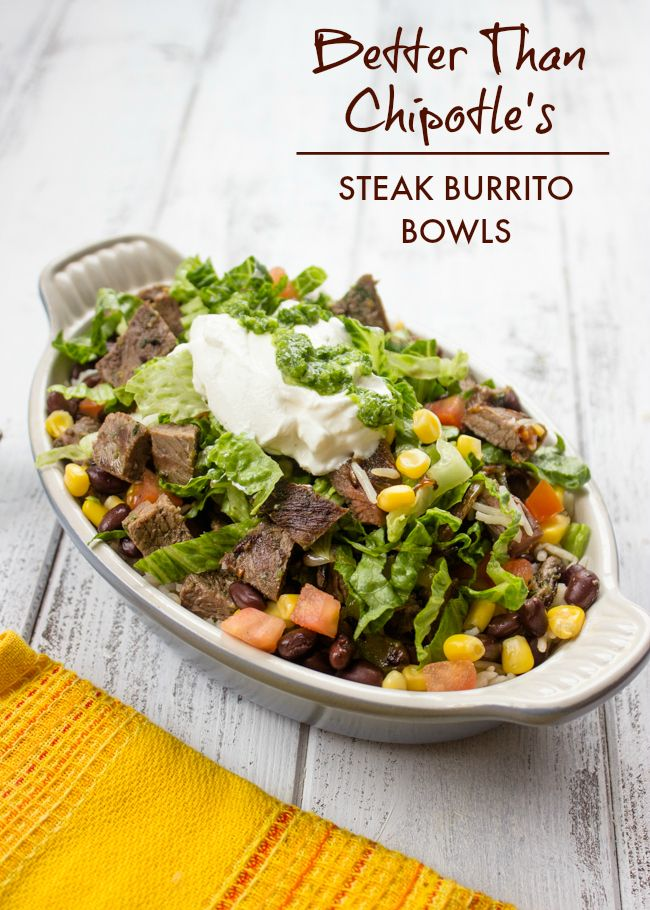 Better Than Chipotle Homemade Steak Burrito Bowls | Now this is a tasty and healthy recipe!