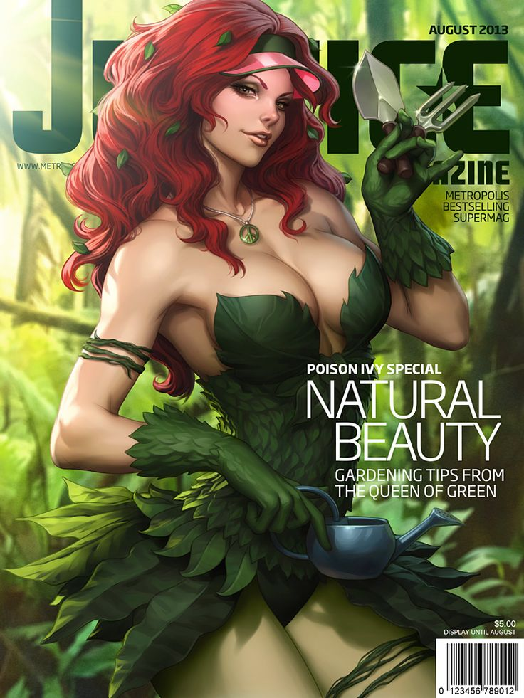 Justice Mag - Poison Ivy by Artgerm Could make a detachable skirt for my bodice! Idea's IDEA'S! | Cosplay Maybes | Pinterest | Poison ivy, deviantART and Comic