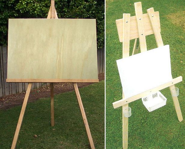 Two different size easels