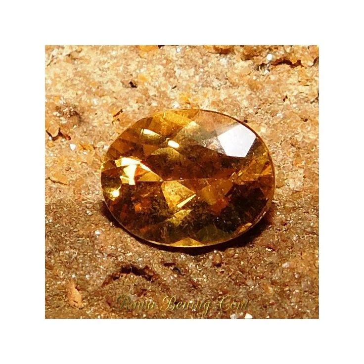Harga Promo Batu Permata Natural Beryl Kuning Oval Cut 1.80 Carat