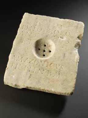 The Romans had a custom of pouring one for their friends even after they were gone. This a Roman grave marker for pouring libations dated to between.1-300 CE and is part of the collection at the Science Museum, London.