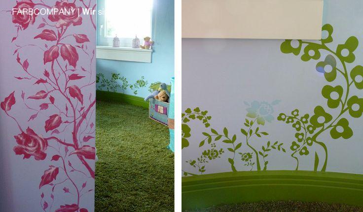 Raumgestaltung Eines Traum Kinderzimmers. Wandmalerei In Einem  Kinderzimmer. Hannover. Wandmotive, Farbkonzept Kinderzimmer