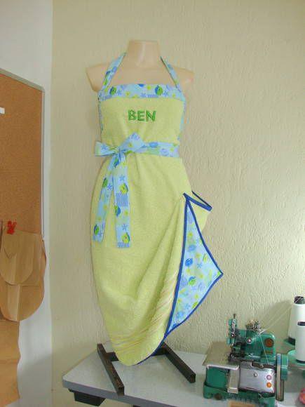 Avental Toalha p/ o Banho do Bebê Verde   Divina Dádiva Baby Wraps & Acessórios   F4077 - Elo7