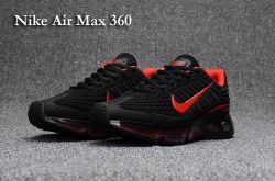 High Quality Nike Air Max 360 KPU Black Red Men's/Women's Running Shoes Sneakers
