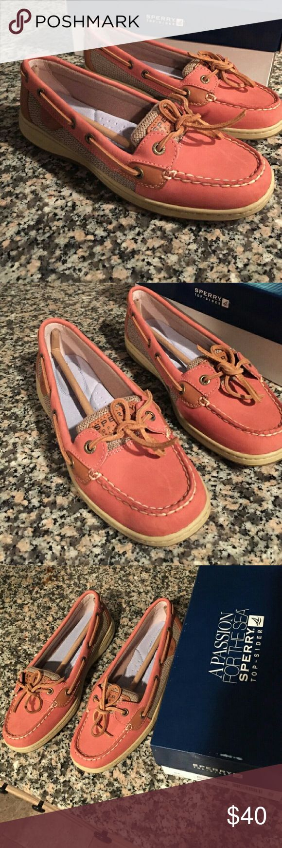 Sperry top siders (angelfish washed red) Boat shoes new in box Sperry Top-Sider Shoes Flats & Loafers