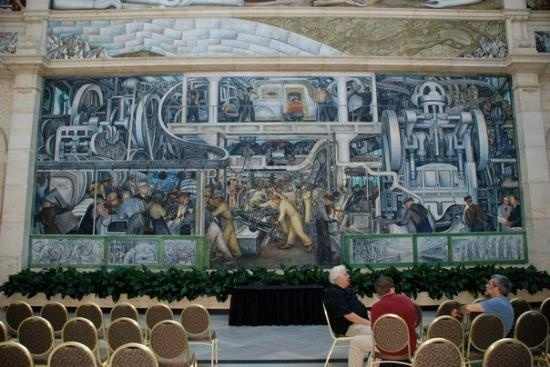Detroit institute of arts diego rivera 39 s mural at the for Diego rivera mural chicago