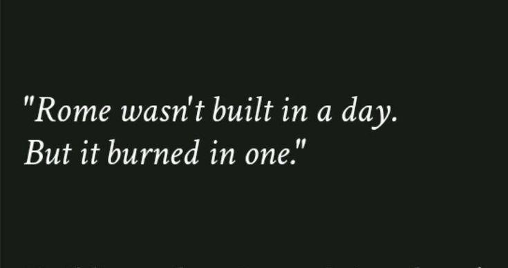 Rom wurde nicht an einem Tag gebaut, aber wie es v…