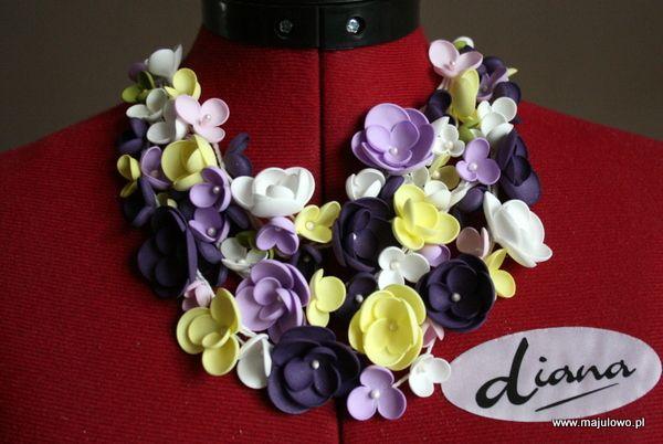 foamiran necklace