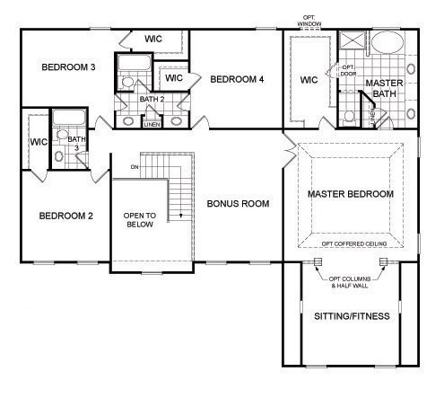 Second floor options ideal layout bedroom with jack and for Jack and jill closet design