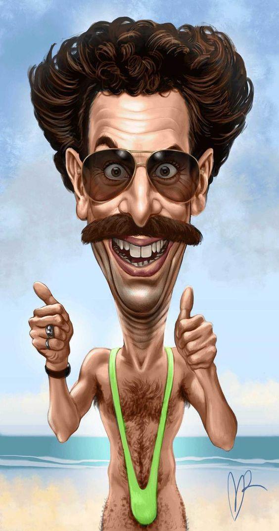 Borat - Borat Sagdijew (Борат Сагдиев) caricature by Marzio Mariani