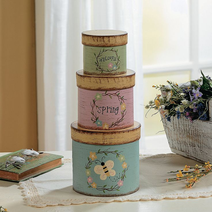 133 Best Stacking Boxes Images On Pinterest Decorative