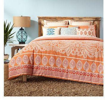 Catalina Orange Comforter Set