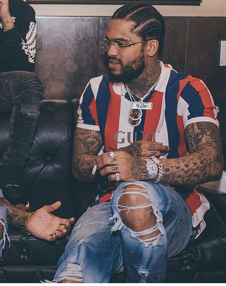 Rapper With Z Tattoed On His Face: #daveeast #tattoos #rapper #facialhair #crip #braids