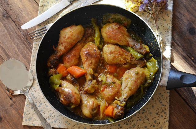 Muslitos de pollo al curry con jarabe de arce.