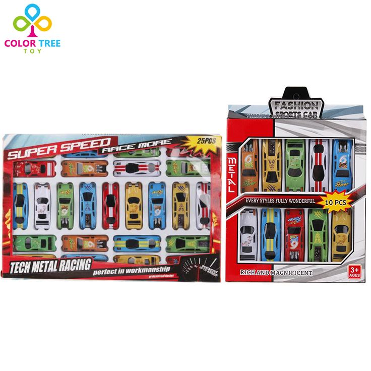 10pcs/25pcs Plastic Mini Racing Car Set Multicolor Model Toy Vehicles Educational Toys Gifts For Children