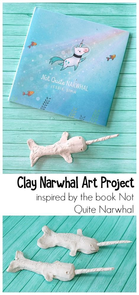how to make a narwhal out of clay