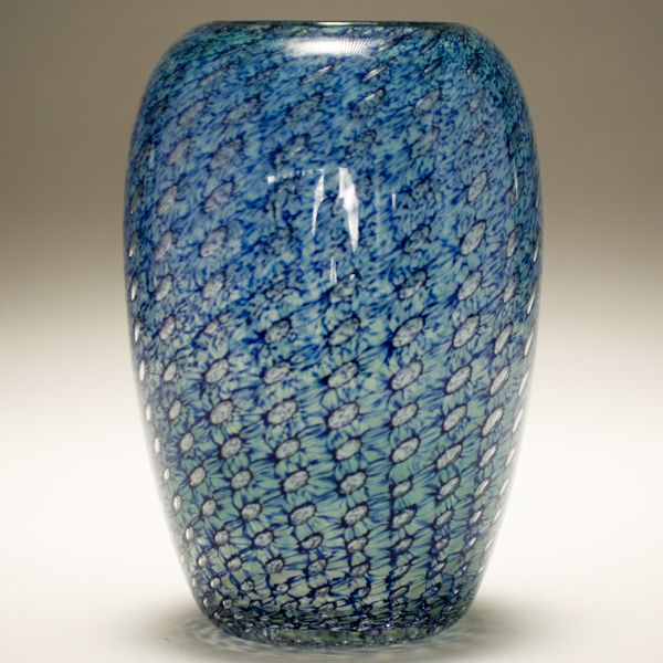 Art glass vase by Willy Johansson, Hadeland, Norway.
