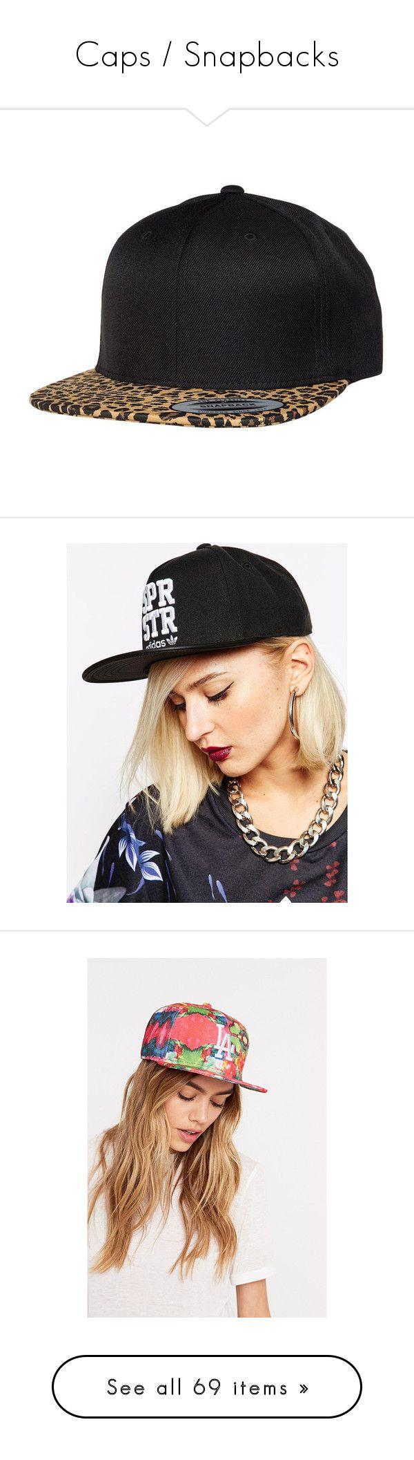 """Caps / Snapbacks"" by lisi-860 ❤ liked on Polyvore featuring accessories, hats, snapbacks, head, black, flexfit snapback, leopard print cap, animal print snapback hats, leopard print snapback and leopard print hats"