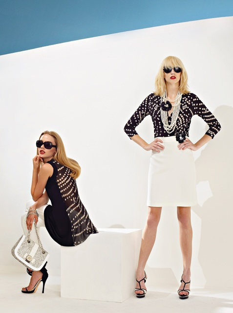 Black and white outfits plus custom jewellery from Anna Rachele S/S '13 collection
