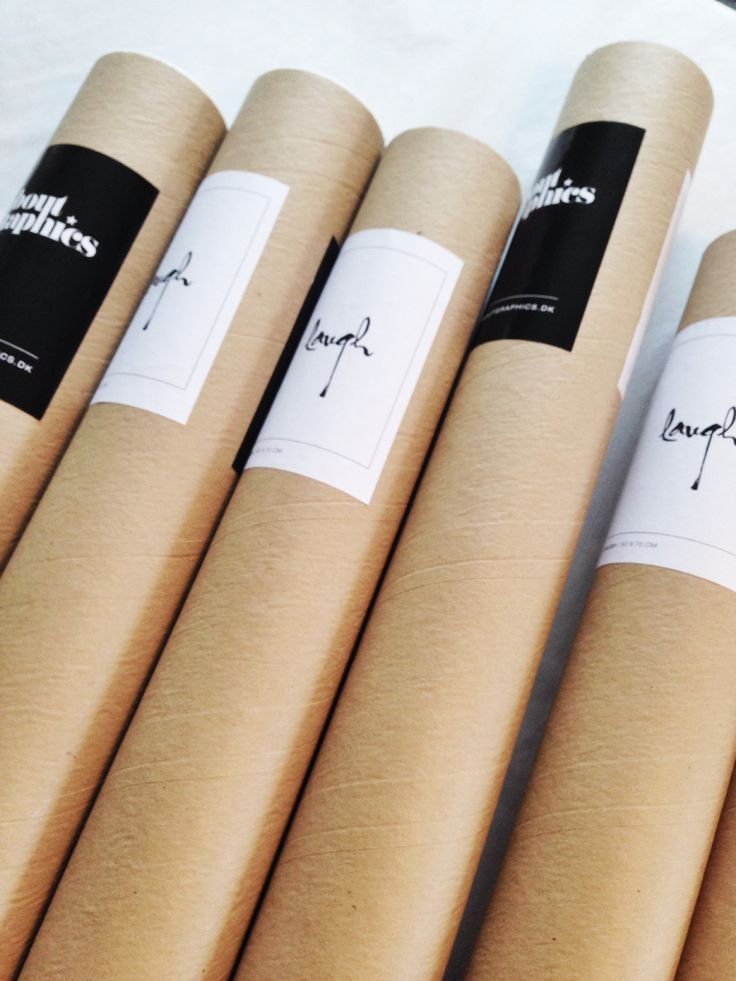 Poster tubes and labels
