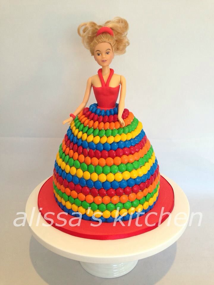 Dolly Varden M&M cake
