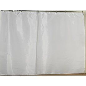 Carnation Home Fashions Polyester White Solid Shower Liner Sc-Fab/108/21