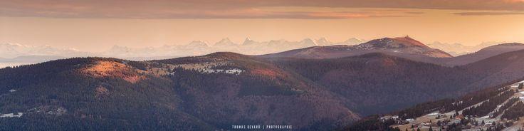 https://flic.kr/p/Qgqhr1 | panoramique des vosges | Vue panoramique de la chaine alpine depuis le massif des vosges  Panoramique réalisé au 200mm