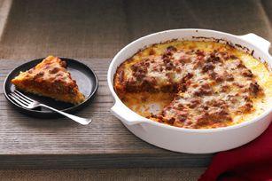 This is what I made last night.. yummy & easy...  Spaghetti Squash Pie recipe