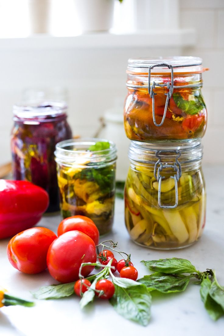 Extend summer's bounty by Preserving Veggies in Olive Oil- serve with Cheese or…