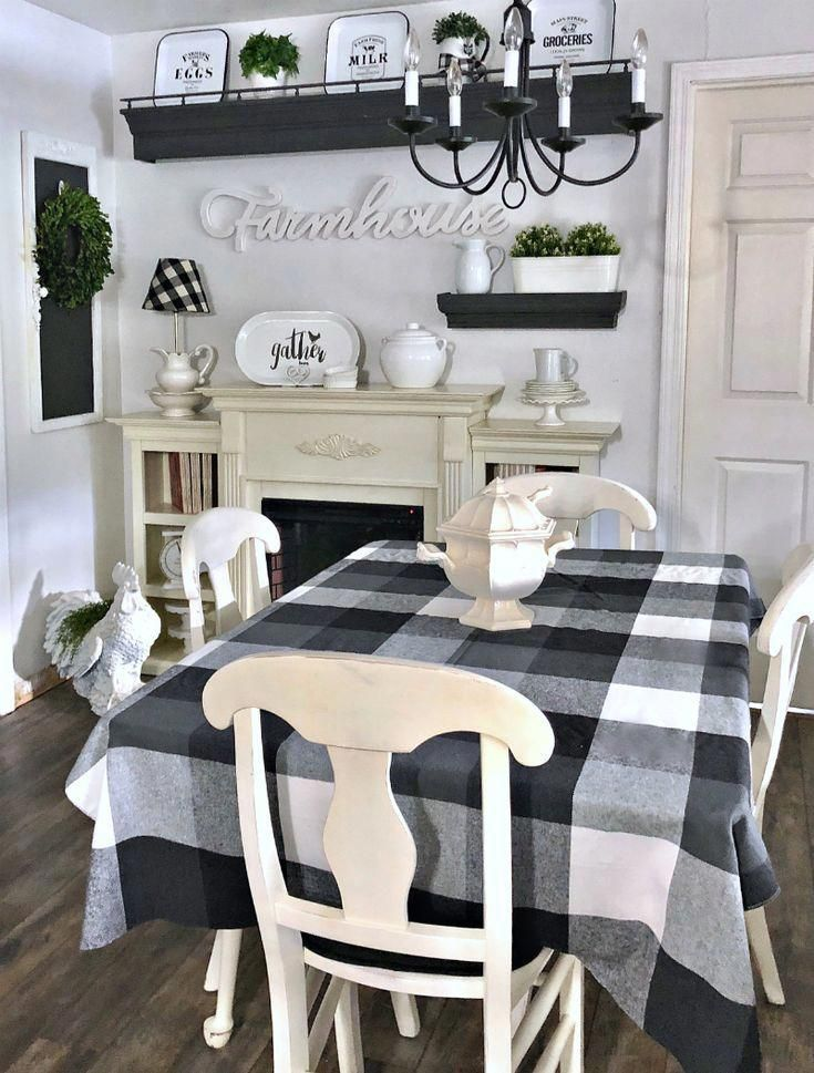 Farmhouse Kitchen Makeover With New Wall Decor Dining Room Wall Decor Dining Room Walls Farmhouse Dining Room