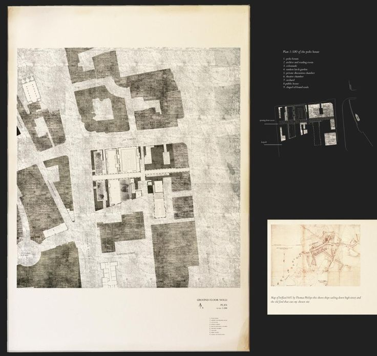 Presidents Medals: Belfast 'Polis' House. nolli plan, the polis house mending the city fabric.
