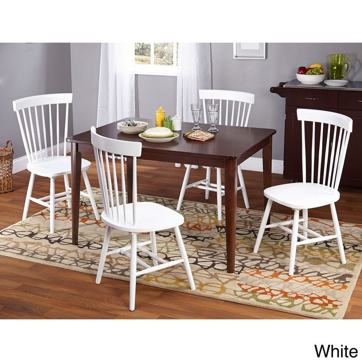 Simple Living Clarissa 5-piece Transitional Dining Set (White), Size 5-Piece Sets