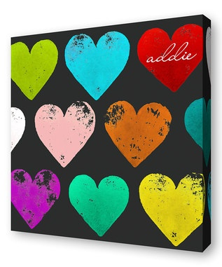 Idea for wall art: easy with paint and sponges in shape of heart!