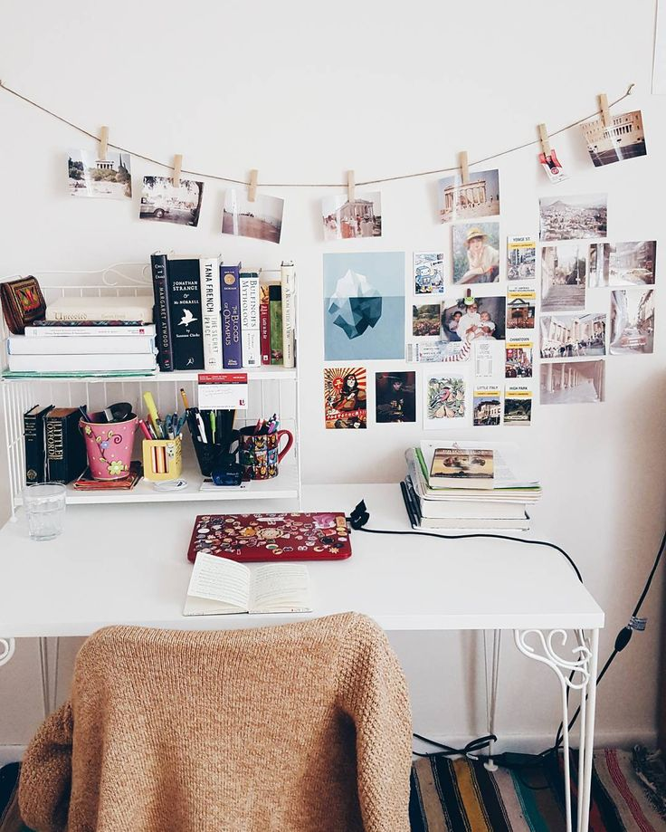 Creative Inspiration Wall With Photos // Room Decor Idea College