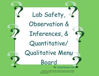 Lab Safety + More Menu Board