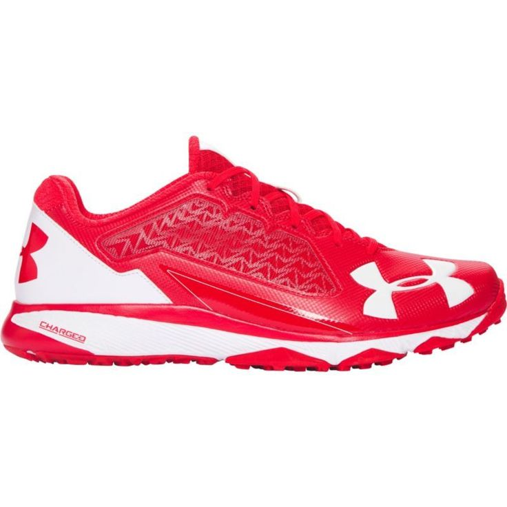 Under Armour Men's Deception Trainer Baseball Shoes, Size: 10.0, Red