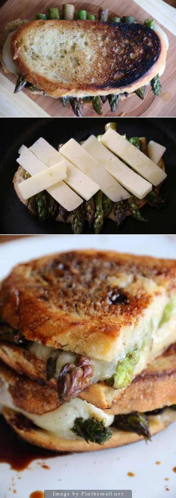 The Springly: asparagus Grilled Cheese #grilledcheese # ...